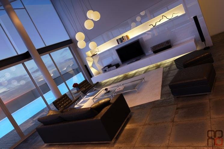 Monochrome-living-room